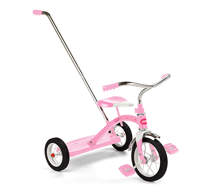 Model 34TP Classic Pink Trike w Push Handle Parts
