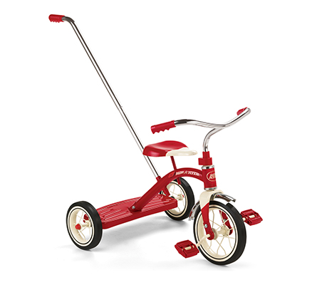 Model 34T Classic Red Tricycle w Push Handle Parts