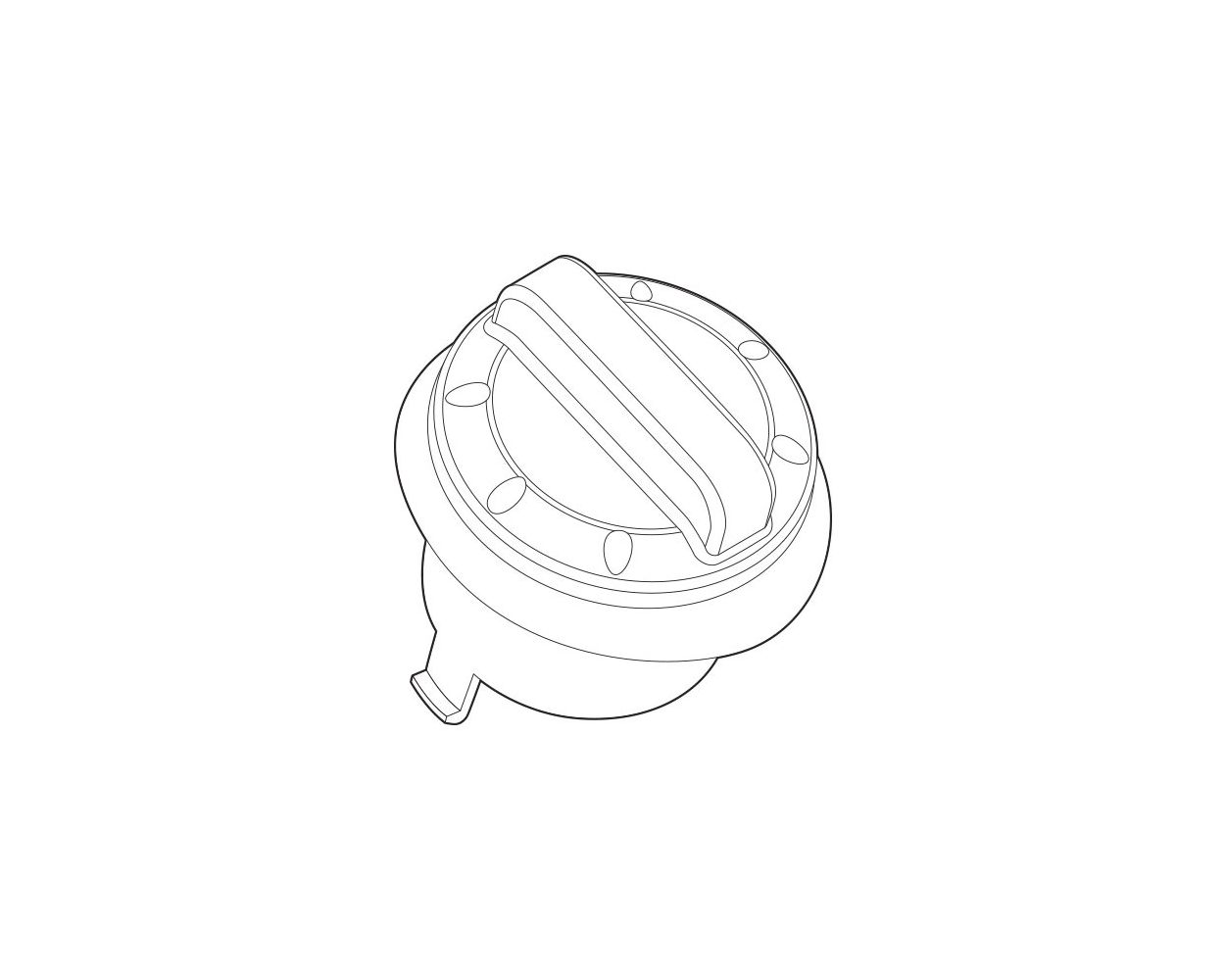 GAS CAP ASSEMBLY- 603
