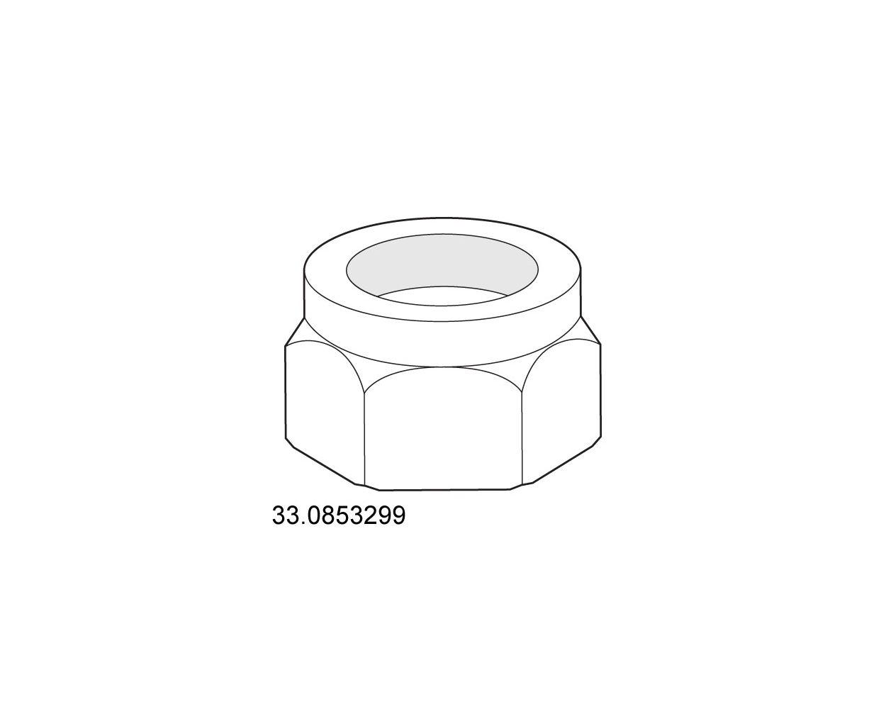 LOCKNUT - M6 10MM W X 6MM HDUP