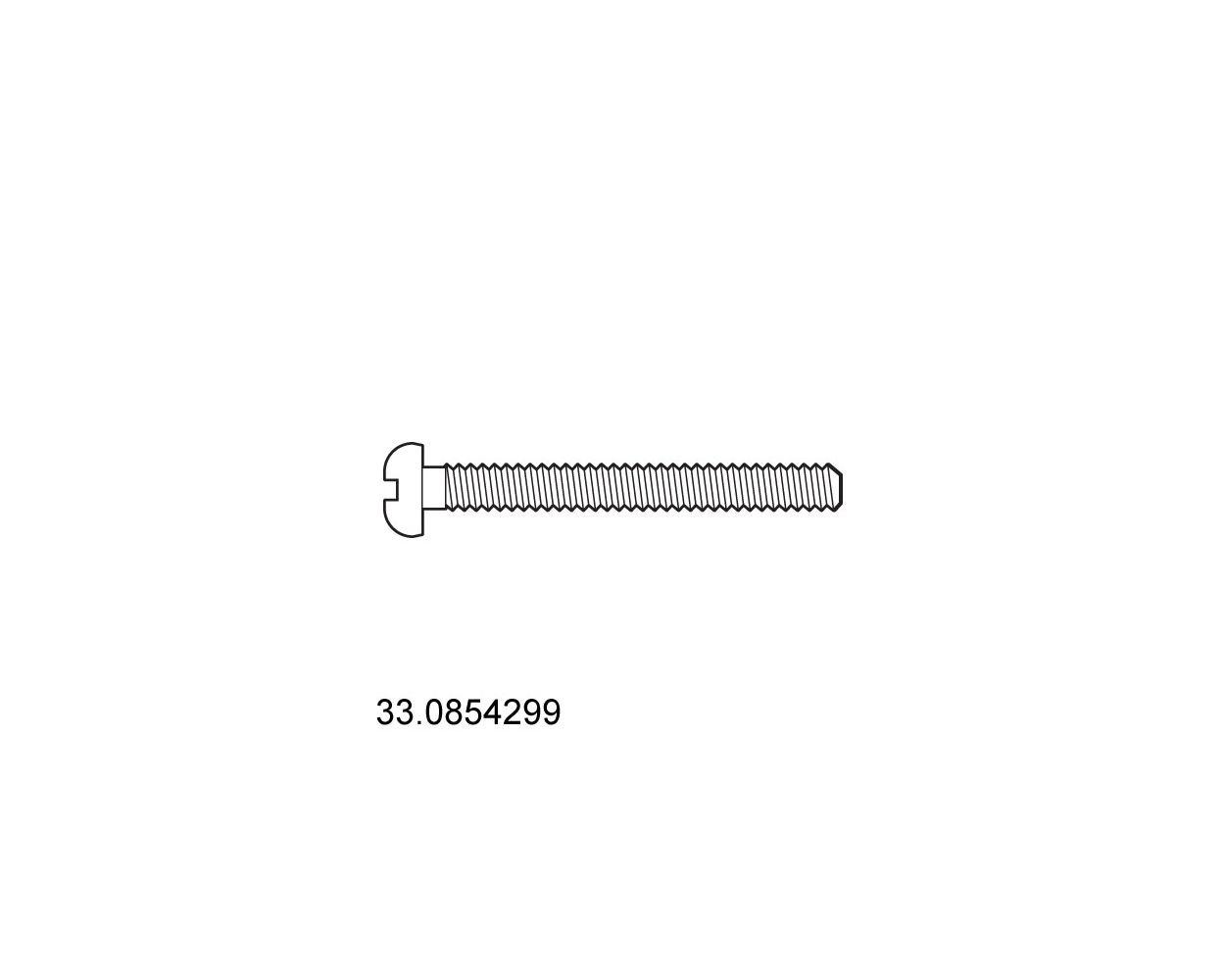 SCREW - M6 45MM L - MACH - PAN