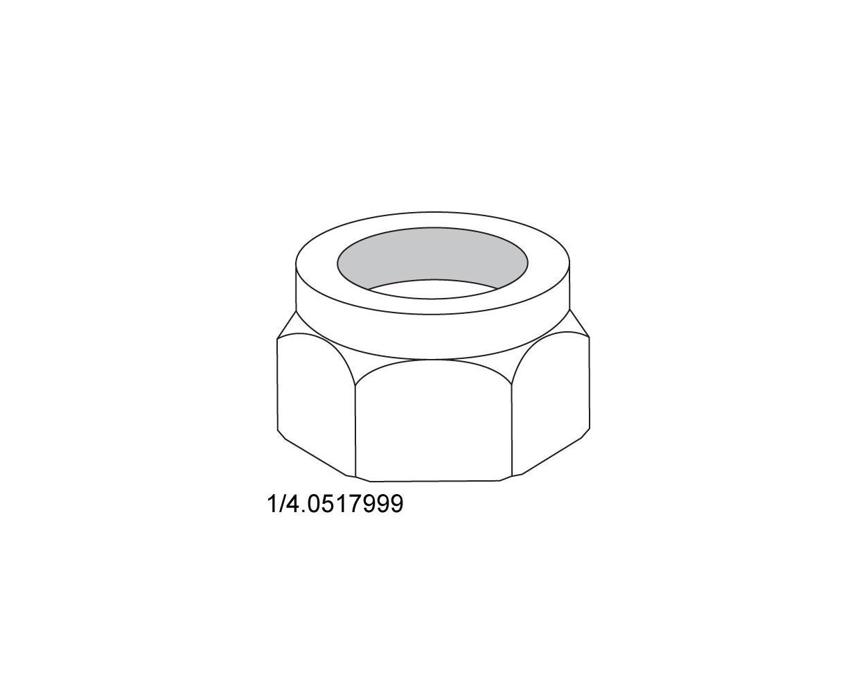 LOCKNUT - W/INSERT - 1/4-20 -